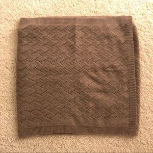 Accessories - NWOT handmade lightweight knitted brown scarf